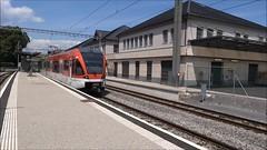 LEB Trainset type RBe 4/8 N 41 of Echallens. (Franky De Witte - Ferroequinologist) Tags: de eisenbahn railway estrada chemin fer spoorwegen ferrocarril ferro ferrovia