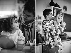 Father & Daughter (Daniel Wooldridge) Tags: bw cute canon kid bokeh father daughter 55mm ft laughter fl f12 ql