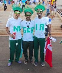 Nigerian fans (Delma Eliane) Tags: brazil braslia nigeria fans worldcup nigerian nigerians copadomundo2014 brazilworldcup2014
