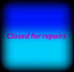 Closed for repairs (losy) Tags: blue closed bleu repair blau 35faves losyphotography