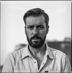 Gerto (Jan Mulders) Tags: portrait white black film field analog kodak bronica converted medium format 100 narrow depth ektar zenza