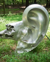 Ear 1965 Sculpture by Tomio Miki, Storm King Art Center, New York (jag9889) Tags: park sculpture usa streetart ny newyork art museum landscape cornwall artist unitedstates contemporary unitedstatesofamerica meadows stormking publicart orangecounty grounds hudsonvalley 2014 mountainville newwindsor stormkingartcenter jag9889