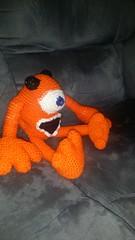 Helen Cole (The Crochet Crowd) Tags: mike toy mikey cal amigurumi redheart monstersinc crochetalong crochetpattern staceytrock freecrochetpattern thecrochetcrowd michaelsellick mysterycrochetchallenge whosinyourcloset monstersinccrochetpattern monstersuniversitycrochetpattern