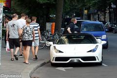Men & women have a different focus - Ferrari 458 Speciale (aguswiss1) Tags: road white car racecar ferrari curb sportscar speciale 458 ferrari458speciale