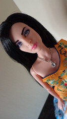LIZ (barbieyotrasmuecas) Tags: liz fan dress barbie taylor bingbing