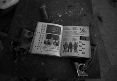 DSC00983 (FarewellFire) Tags: city school abandoned nature hammer children dead book nuclear ukraine communism caution learning ghosttown radioactive gasmask sickle 1986 destroyed socialism sovietunion reclaimed chernobyl pripyat