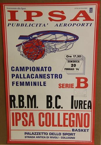 Manifesto Collegno Basket vs. Ivrea - Serie B Femminile