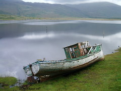 Fishing Boat Wreck On the island of Mull 2007 (Dave Russell (1.5 million views thanks)) Tags: wooden fishing work boat ship vessel isle island mull scotland 2007 outdoor wreck shipwreck vehicle trawler travel sea loch west coast
