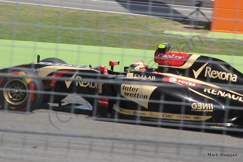 Pastor Maldonado in qualifying for the 2014 German Grand Prix