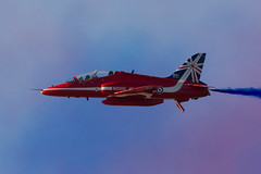 Red Arrows (SJM_Photography) Tags: blue red white hawk royal airshow arrows rhyl redarrows raf aerobatics airdisplay royalairforce synchropair rhylairshow