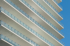 Balconies (street level) Tags: lines architecture nikon florida miami balcony