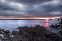 Last Light (tomislav.vitkovic) Tags: light sunset sea sun colors clouds canon landscape evening boat dock rocks colorful croatia source adriatic lightroom hrvatska 18mm