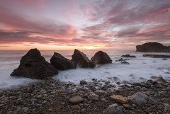 POINTS (Steve Boote..) Tags: longexposure sea cloud seascape sunrise dawn adobe northumbria northsea southshields tyneandwear southtyneside northeastengland sigma1020f456exdchsm trowpoint canoneos7d elements9 lightroom42