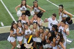 Vanderbilt Cheerleaders (Paul Robbins - BNA-Photo) Tags: cheerleaders vanderbilt cheer cheerleader cheerleading vandy vanderbiltuniversity collegecheerleader collegecheer cheerleadercollege vandysec