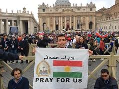 Kurdistan Flag in Vatican (Kurdistan Photo ) Tags: democracy refugee unhcr kurdish barzani kurd   peshmerga peshmerge   kurdene          hermakurdistan