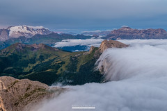 Sunrise clouds - Lagazuoi - Dolomites (Mirco Volpi) Tags: mountain sunrise fuji alba fujifilm alpini alpi montagna sella dolomites dolomiti marmolada lagazuoi passofalzarego settsass coldilana passovalparola sassdestria piccololagazuoi