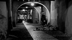 No one (Kujo1087) Tags: poverty life street city italy photography hope one blackwhite fuji no nowhere here help verona fujifilm moment fujinon decisive needless veneto