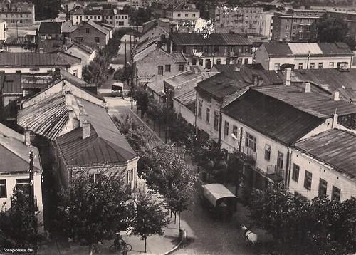 ul. Radomska, widok z wieży ratuszowej, lata 60-te, XX wieku (fotopolska.eu)