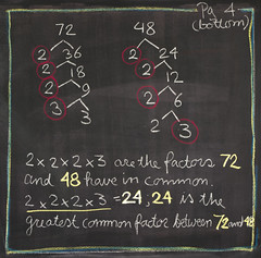 5th Grade: Math; Factoring / GCF (ArneKaiser) Tags: 5thgrade autoimport edited mrkaisersclass pineforestschool waldorf chalk chalkboard math