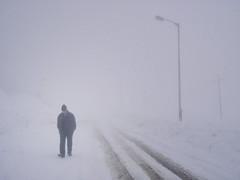 Lonely Figure (wandervox) Tags: pakistan india white snow ski cold fog skiing olympus resort figure lonely kashmir tough jammu gulmarg st8000 ut8000