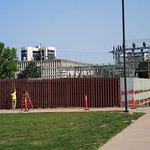 Substation Fence Being Painted