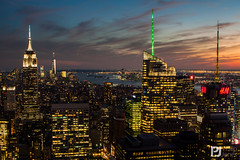 Sunset Skyline View at Top of The Rock - Explored 23/09/2015 #475 (philrdjones) Tags: nyc newyorkcity sunset newyork skyline night unitedstatesofamerica september topoftherock rockerfellercenter 2014 oneworldtradecenter