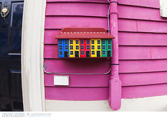 A typical mailbox in St. John's, Newfoundland (Vincent Demers - vincentphoto.com) Tags: voyage street city trip travel urban house canada art tourism architecture mailbox america newfoundland buildings colorful paint stjohns atlantic handpainted northamerica multicolored neighbourhood nfld maritimes tourisme eastcoast residentialarea atlanticcoast amrique travelphotography latlantique jellybeanrow terreneuve travelphoto amriquedunord traveldestination easterncanada cteatlantique newfoundlandandlabrador maritimeprovince photographiedevoyage canadianmaritimes cteest photosdevoyage terreneuveetlabrador atlanticregion travellocation destinationvoyage lesmaritimes provincemaritime estducanada rgiondelatlantique