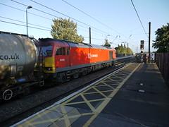 Northallerton (DarloRich2009) Tags: yorkshire deutschebahn northyorkshire dbs ews ecml northallerton class60 60024 northallertonstation englishwelshandscottishrailway dbshenker dbschenkerrailuk northallertonrailwaystation