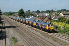 GBRf's new toys at Magor. 8/9/14 (Nick Wilcock) Tags: wales 667 railways doncaster magor class66 gbrailfreight gbrf 66753 66759 66758 66757 66760 66762 66761 66764 66763 66765 newportdocks 0x66