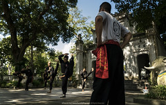 Martial Routines    (francisling) Tags: zeiss temple martial sony arts vietnam kung fu fe alpha hanoi thanh  a7 quan  2470     ilce7