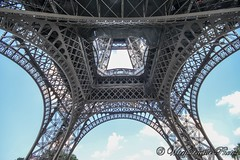 Eiffel Tower (WarpFactorEnterprises) Tags: summer paris france tower seine river view elevator eiffel montparnasse 2014