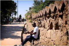 Music in the Parc Guell  ~ Musique au Parc Guell (SergeK ) Tags: barcelona park city music beautiful spain icons catalonia gaudi guell espagne antoni musique located sergek park