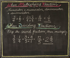 5th Grade: Math; Fractions Review (ArneKaiser) Tags: 5thgrade autoimport boarddrawings edited mrkaisersclass pineforestschool waldorf chalk chalkboard chalkdrawings math flagstaff arizona unitedstates flickr