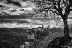 Rocamadour (karmajigme) Tags: rocamadour lot france travel landscape monochrome blackandwhite monument noiretblanc nikon