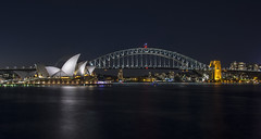 sydney harbour (Greg Rohan) Tags: nightphotography sydneyharbourbridge sydneyoperahouse operahouse harbourbridge sydneyharbour sydney photography 2017 d7200 night sea harbour bridge lights