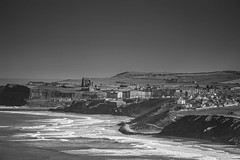 The view from Lythe up the coast toward Whitby (jameshowardphotography) Tags: whitby white water coast coastline abbey grass tide beach yorkshire north northyorkshire northeast northern nikon