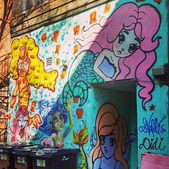 Montreal Graffiti (Georgie_grrl) Tags: streetart tagging graffiti art colourful expression mermaids alleyway montreal quebec didi