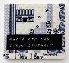 The Legend of Zelda: Link's Awakening (version 2) (2014) (perfhager) Tags: perfhager steneprojects contemporaryart gaming craft needlepoint embroidery handmade 刺繍 ゲーム 美術 現代美術 クラフト ハンドメイド アート