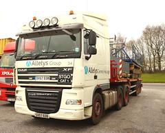 DAF XF Stgo Cat 1 Allely's Group Frank Hilton IMG_5104 (Frank Hilton.) Tags: classic truck lorry eight wheel maudsley aec atkinson albion leyalnd bristol austin outside heavy haulage crane 8 axle