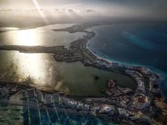 Bye bye Cancun (karinavera) Tags: travel sonya7r2 cancun aerial view flight sea cityscape