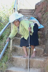 On Her Way to Work (Richard & Jo) Tags: philippines bontoc thephilippines rnj2014philippines maligcong oldwoman hunched hunchedwoman