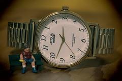 Acqua. 1 (EOS) (Mega-Magpie) Tags: canon eos 60d indoor model train people wristwatch watch timepiece quartz funny cute bench acqua indiglo time