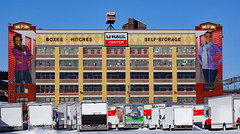 U-Haul Center with Murals (dr.tspencer) Tags: albanyny uhaul mural building