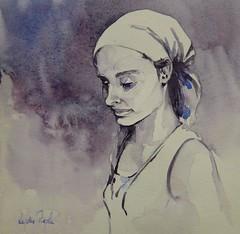 Carolyn - JKPP (lydie.pieplu) Tags: aquarelle watercolor portrait jkpp