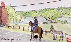 Le Tour de France virtuel - 61 - Orne (chando*) Tags: aquarelle croquis sketch watercolor france