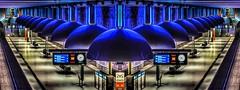 München U-Bahn mirror (stefan.lafontaine) Tags: europe münchen subway westfriedhof bavaria bayern library germany architecture urban colourful olympus em1 zuiko pro 8 mmm