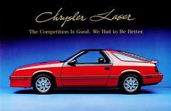 1986 Chrysler Laser (aldenjewell) Tags: 1986 chrysler laser postcard