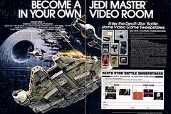 1983 Star Wars Death Star Battle sweepstakes (Tom Simpson) Tags: starwars videogame gaming deathstar millenniumfalcon tiefighter projector beta vcr betamax atari atari800 arcadegame arcade 1983 1980s sweepstakes