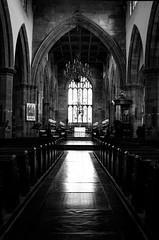 2017_88 (Chilanga Cement) Tags: fuji fujix100f x100t x100f bw blackandwhite floor church worship lancashire lancaster stmarys reflection reflections reflecting pew pews glass stainedglass monochrome