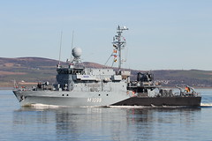 FGS Siegburg (M1098) (corax71) Tags: exercise joint warrior 171 jointwarrior exercisejointwarrior jw171 naval nato otan ship shipping boat vessel maritime marine east india harbour eastindiaharbour greenock inverclyde scotland gb uk greatbritain great britain unitedkingdom united kingdom firth clyde firthofclyde fgs siegburg m1098 fgssiegburgm1098 fgssiegburg ensdorf class ensdorfclass minesweeper mine countermeasures sweeper minecountermeasures type 352 type352 germany germannavy german navy deutsche deutschemarine bundeswehr armed force forces armedforce armedforces military combat war warship type343 hameln hamelnclass 343